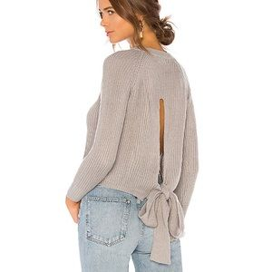 LOVERS + FRIENDS Revolve Tie Back Crewneck Sweater